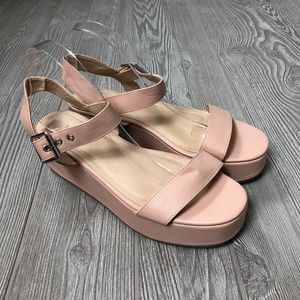 ASOS Pink Ankle Strap Sandals Women's 8.5 S157